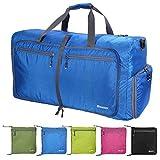 Foldable Duffle Bag Large Size,Lightweight Waterproof Travel Duffel Bag,Large Gym Bag for Men and Women,Camping Duffle Bag(Blue)