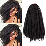 Marley Braiding Hair Synthetic Afro Kinky 3Pcs/Lot Marley Hair for Twists 18 Inch Marley Twist Braiding Hair Extensions (1B#)