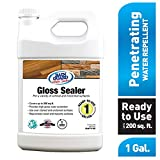 Rain Guard Water Sealers SP-1103 High Gloss Hybrid Sealer for All Wood and Masonry Surfaces. Ready to USE Covers up to 200 Sq. Ft. 1 Gallon - Rain Guard Wood Sealer, Water Based Sealer