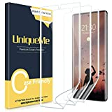 [3 Pack] UniqueMe for Samsung Galaxy Note 10 Plus/Samsung Galaxy Note 10+ Screen Protector,TPU Clear Soft Film [ Case Friendly] Touch Sensitive with Lifetime Replacement Warranty.