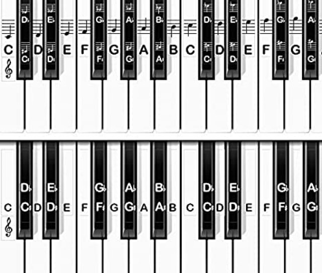 Amazon Com Covertribe Piano Keyboard Stickers For White And Black