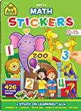School Zone - Math Stickers Workbook - 64 Pages, Ages 3 to 6, Preschool to Kindergarten, Counting, Numbers, and Basic Math (School Zone Stuck on Learning Book Series)