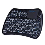 (2019 Version) iPazzPort Bluetooth Mini Wireless Keyboard with Touchpad, RGB Backlit Keyboard and Universal TV Remote for Android TV Box, Nvidia Shield TV, Smart TV, Raspberry Pi, Apple TV KP-810-61BT
