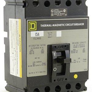 FCL34015 SQD 3P 15A 480V CIRCUIT BREAKER