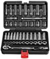 "EPAuto 45 Pieces 3/8"" Drive Socket Set with 72-Tooth Pear Head Ratchet"
