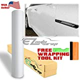EZAUTOWRAP Free Tool Kit White Premium High Gloss Glitter Sparkle Metallic Car Vinyl Wrap Sticker Decal Film Sheet Bubble Free Air Release Technology - 60'X84' (5FT X 7FT)