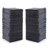 Simpli-Magic Cotton Washcloths 12' x 12', Gray 24 Pack