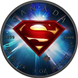 2016 CA BU Canada 5$ Superman 1 oz Colored Space Precious Bullion 999 Silver Coin $5 Uncirculated BM