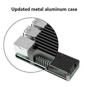 DORHEA-for-Raspberry-Pi-4-B-Heavy-Metal-Case-Aluminum-Alloy-Case-with-Passive-Cooling-Fast-Kit-Armor-Case-for-Raspberry-Pi-4-B-Black