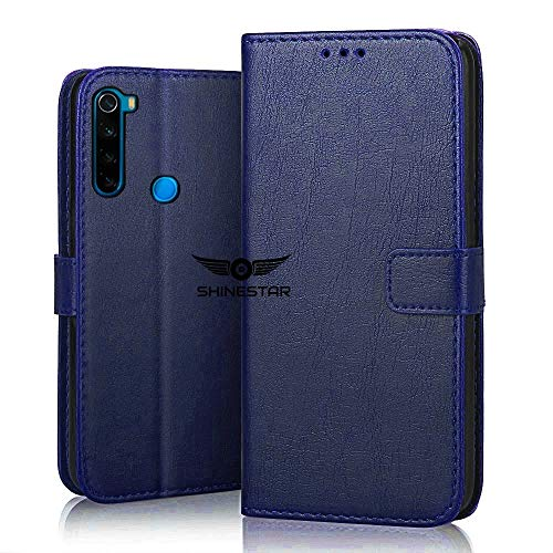 SHINESTAR PU Leather Flip Wallet Case with TPU Shockproof Cover for Xiaomi Redmi Note 8 (Blue, Xiaomi Redmi Note 8) 121