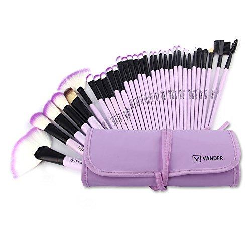 Make up Brushes, VANDER Professional 32pcs Makeup Brush Set, Makeup Brushes Set Foundation Blending Cosmetic Brush Set Kit,Purple