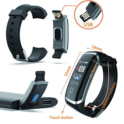 Smart Watch for Android and iOS Phone,Fitness Tracker Watch with Heart Rate Blood Pressure Watch Waterproof Smart… 6