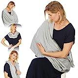 Kiddo Care Nursing Cover Infinity Nursing Scarf for Breastfeeding (Elegant Grey)