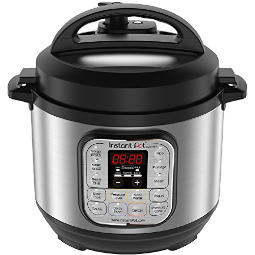 Instant Pot Duo Mini Multi-Use Programmable Pressure Cooker, Slow Cooker, Rice Cooker, Steamer, Sauté, Yogurt Maker and Warmer