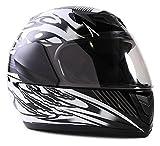 Typhoon Youth Full Face Motorcycle Helmet Kids DOT Street - Black (Small)