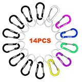 WAPAG Carabiner Clip 2Inch Aluminum Flat Gourd Shape Mini Spring Hook Keychain Keyring for Keys Small Items Daily Life Hammocks Camping Hiking Running Accessories (14Color)