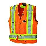 Pioneer V1010150U Hi-Vis Surveyor's Safety Vest - Orange (XL)