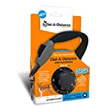 Dial-A-Distance Retractable Dog Leash, Adjustable 0 to 15 Feet, Auto brake and One Button Lock