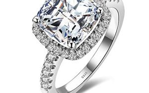 dfbdcf223 Jewelrypalace Women's 3ct Cubic Zirconia Engagement Ring 925 Sterling  Silver Size 6