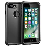 iPhone 7 Plus Waterproof Case, Outdoors Full Sealed IP68 Certified Protective Cover, Clear Sound Waterproof Shockproof Dirtproof Snowproof Case with Fingerprint Touch for Apple iPhone 7 Plus