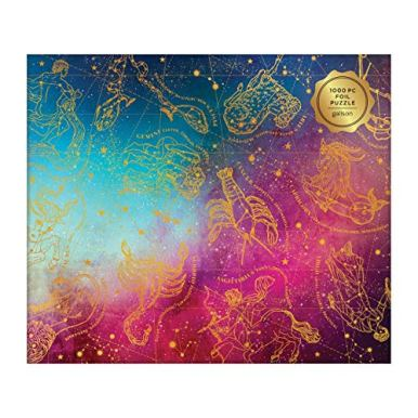 Galison-Astrology-1000-Piece-Jigsaw-Puzzle-for-Adults-Foil-Puzzle-with-Astrological-Star-Signs