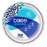 Dixie Everyday Disposable Paper Plates, 10-1/16' Dinner Size, Printed, 150 Count