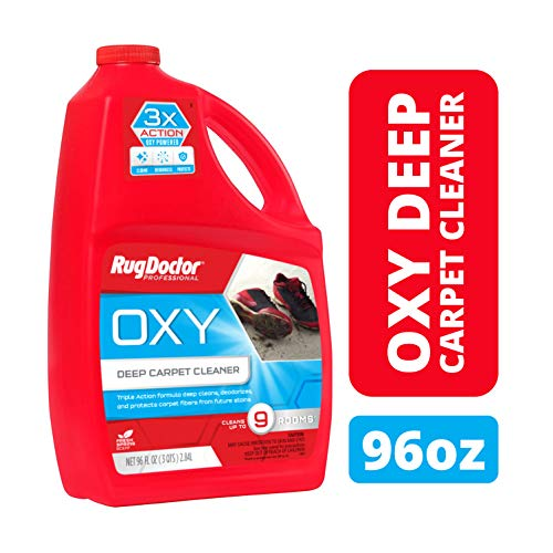 Rug Doctor Oxy Deep Cleaner Solution for Rental Cleaners, Non-Toxic Deodorizing Formula with Oxygen Power to Lift Stains and Spots, 96 oz.