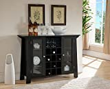 Product review for Kings Brand Furniture Wine Rack Buffet Cabinet, Black Finish Wood