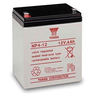 Yuasa NP4-12 Battery 12 Volt 4 Amp Sealed Lead Acid Battery