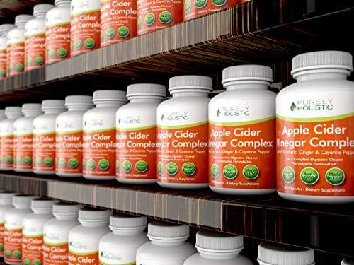 Apple Cider Vinegar Capsules, - 180 Vegan ACV Capsules, High Strength Apple Cider Vinegar Pills, Purely Holistic 5