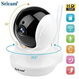 monitor camera Sricam SP020 IP Wireless camera,720P HD Two-way Audio Night Vision with Camera, for Pet Baby Monitor,Home Security Camera Motion Detection Indoor Camera with Micro SD Card Slot
