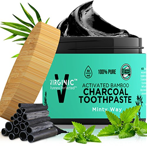 activated charcoal toothpaste teeth whitening natural black bamboo
