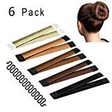 Hair Bun Maker, Instant Hair Bun Making Tool with French Braid Tool, 6 Pack
