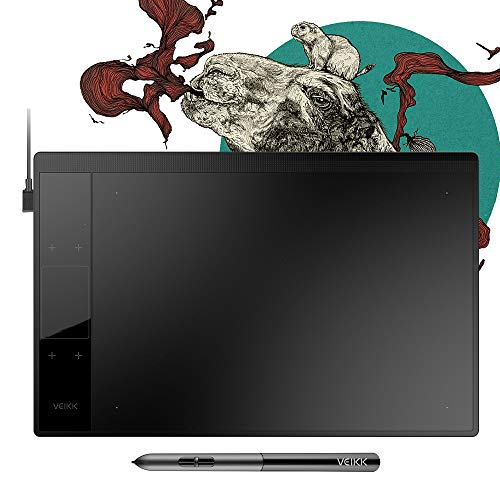 VEIKK A30 Graphics Drawing Tablet with 8192 Levels Battery-Free Pen - 10' x 6' Active Area