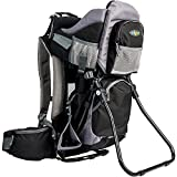 Clevr Canyonero Camping Baby Backpack Hiking Kid Toddler Child Carrier with Stand and Sun Shade Visor, Midnight Black | 1 Year Limited Warranty