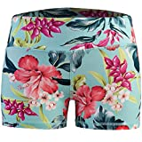 Epic MMA Gear Women's 3' Stretch Booty Shorts - Fitness, WOD, Yoga, Running, (L, Hibiscus)
