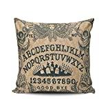 KEIBIKE Personalized Ouija Board Horror Movie European Square Decorative Pillowcases Design Zippered Throw Pillow Covers Cases 18x18 Inches One Sided
