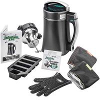 """STX Infuzium 420 Herbal Botanical Butter Infuser Extractor Machine Complete Kit """"2 Sticks/1 Cup up to 8 Sticks/4 Cups Butter"""" - Includes 2 Filters, Silicone Glove & Butter Mold & The Official Infuzium 420 Cookbook - Over 80 Magical Recipes/Tips"""