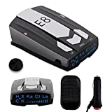 Radar Detector E8 Car Speed Laser Radar Detector with LED Display, Voice Alert and Alarm System Radar Detector Kit with 360 Degree Detection FCC Certificate