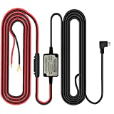 Dash Cam Hardwire Right Angled Micro USB Fuse Kit,11.5 Foot Hardwire Dash Camera Power Supply Car Charger GPS Car DVR Power Box(Right Angel Micro USB)