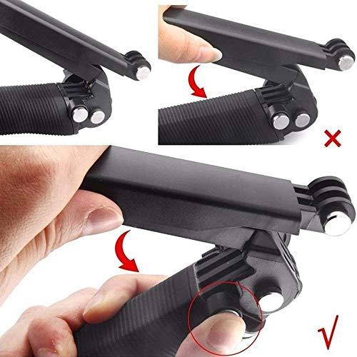51hUbV9kb9L YANTRALAY SCHOOL OF GADGETS 3-Way Monopod Grip Arm Tripod Foldable Selfie Stick, Stabilizer Mount Holder for GoPro Hero 7/6/5, SJCAM SJ6, SJ7, SJ5000, Yi and All Action Cameras (Black)