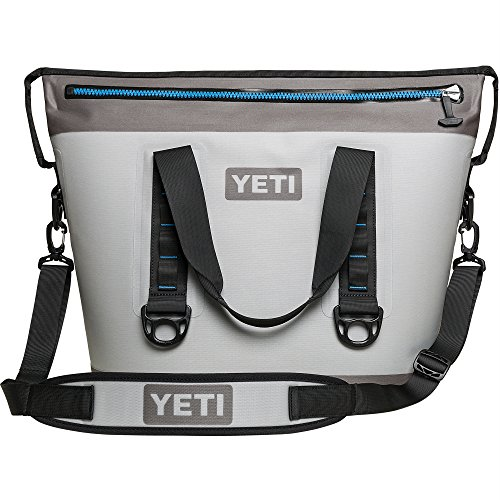 YETI Hopper Two 30 Portable Cooler, Fog Gray/Tahoe Blue