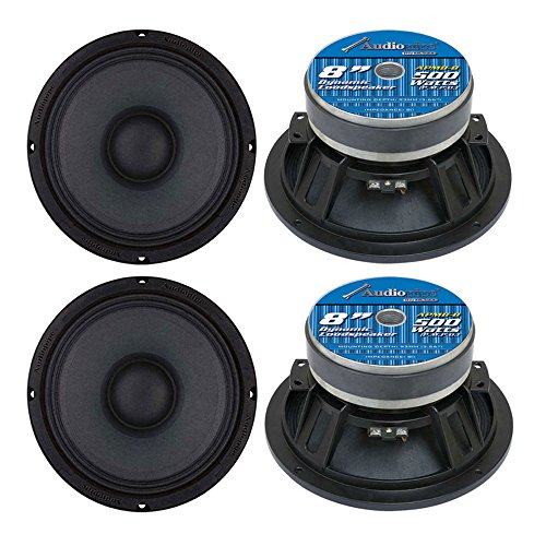 4) Audiopipe APMB8 8' 2000W Low/Mid Bass Frequency Loudspeakers Speakers APMB-8