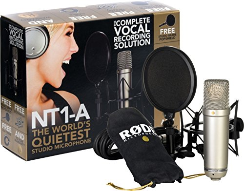 Rode Microphones NT1-A Cardioid Condenser Microphone Bundle,