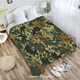 AngelDOU Super Soft Warm Flannel Blanket W72 xL86 London Telephone Booth in The Street Traditional Local Cultural Icon England UK Retro Couch Bedroom Throw Blanket.