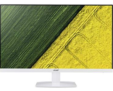 Acer 27 Inch Full HD IPS Ultra Slim (6.6mm Thick) LCD Monitor I Frameless Design I AMD Free Sync I Eye Care Features I Stereo Speakers (HA270)