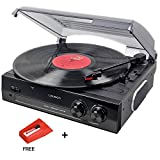 Lauson CL502 Turntable USB, Vinyl-To-MP3, Vinyl Record Player 3 Speed, Stereo Built in Speakers, Belt-driven, Extra Stylus AG101