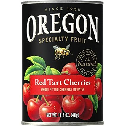Oregon Fruit Products Red Tart Cherries in Water