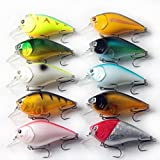 Laimeng,Lot 5Pcs Fishing Lures Kinds Of Minnow Fish Bass Tackle Hooks Baits Crankbait