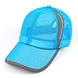 Men's Quick Dry Hats Lightweight Sun Caps for Running/Golf/Baseball Sky Blue